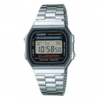 CASIO - A168WA-1U - Silver Black