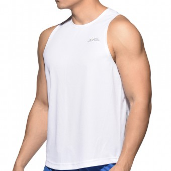 BeFit Sweat Casual Fit Singlet-White [3482]