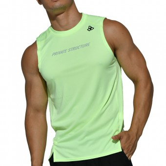 beFIT Sweat Casual Fit Muscle Tank - Lime [4061]