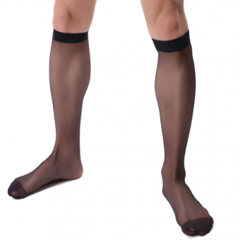 Desire Intima Men Mesh Stocking - Black [4101]