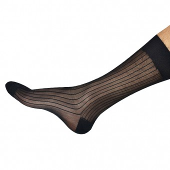 Desire Intima Men Mesh Stocking - Black [4102]