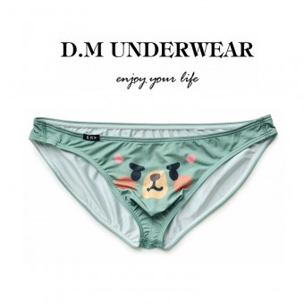 D.M Men Underwear Mini Brief Green [4156]