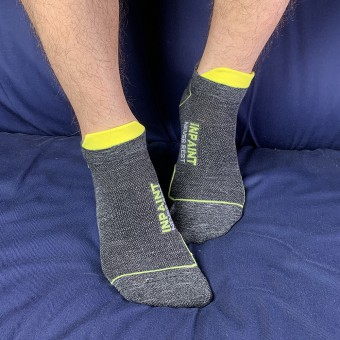 Low Cut Socks - Grey Yellow [4137]