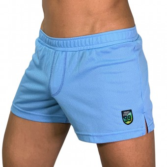 Lounge Shorts With Inner Bulge - Blue [4016]